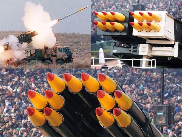 Pinaka Multi Barrel Rocket Launcher